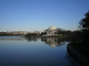 Jefferson Monument from the bridge