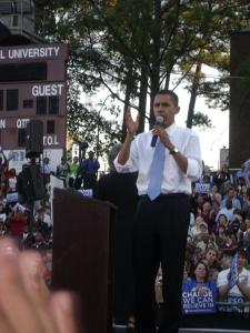 Candidate Obama in NCCU, Raleigh, NC November, 2007